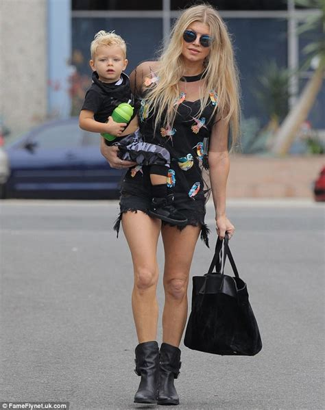Fergie Looks Like Real Live by Fergie Shows Shapely Legs In Ripped Hotpants With