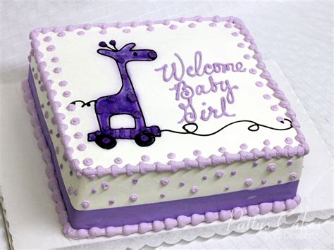Baby Shower Square Cakes by Photo Of A Baby Shower Cake Purple Square Patty S Cakes