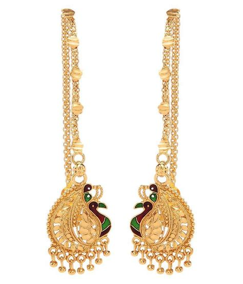 goldnera south indian style mayur designed gold plated