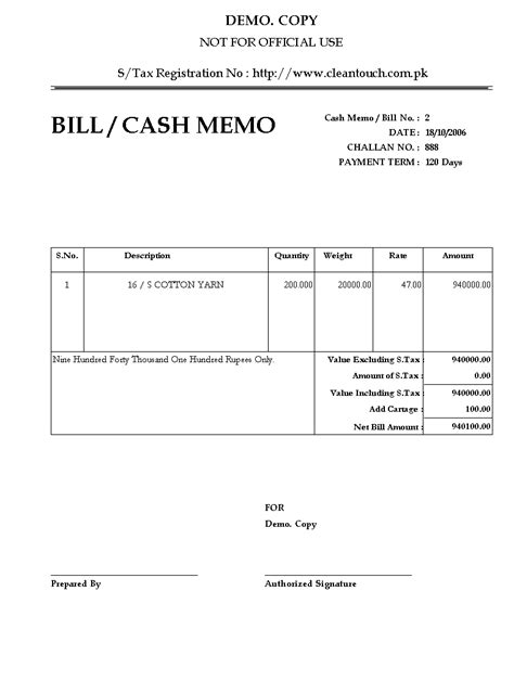 6 cash memo bill format welder resume