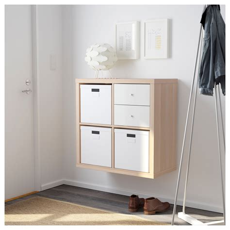 skanso wall unit in white gloss wotan oak on white media kallax shelving unit white stained oak effect 77x77 cm ikea