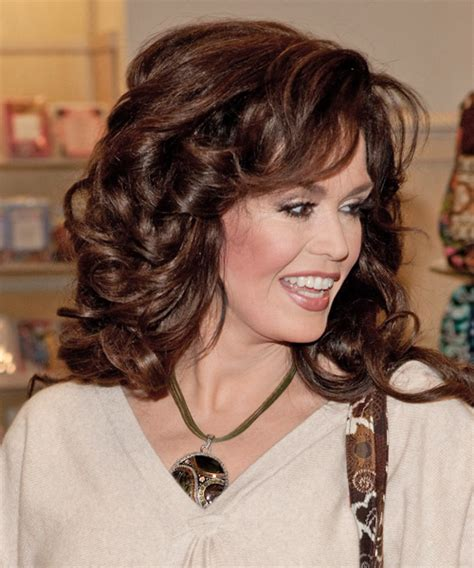 how is marie osmonds hair cut marie osmond long wavy formal hairstyle marie osmond and