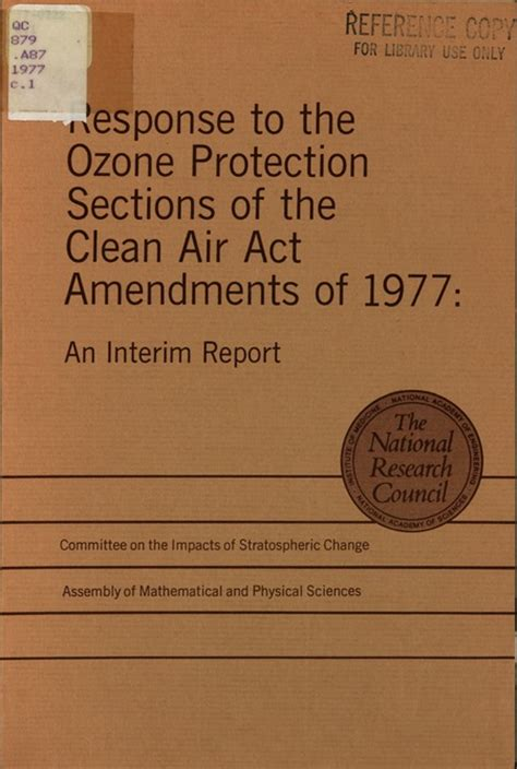 sections on the act response to the ozone protection sections of the clean air