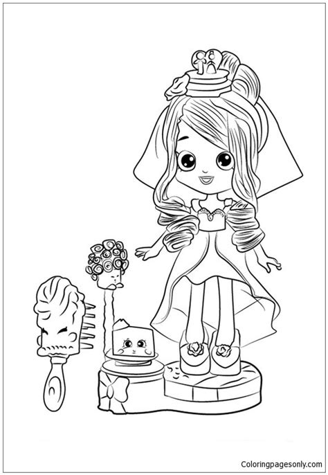 Cute Shopkins Bride Coloring Page - Free Coloring Pages Online