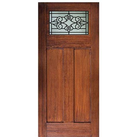 Craftsman Fiberglass Entry Door by Glasscraft Craftsman Salento Craftsman Salento Gbg Mahogany Wood Grain Fiberglass Entry Door At