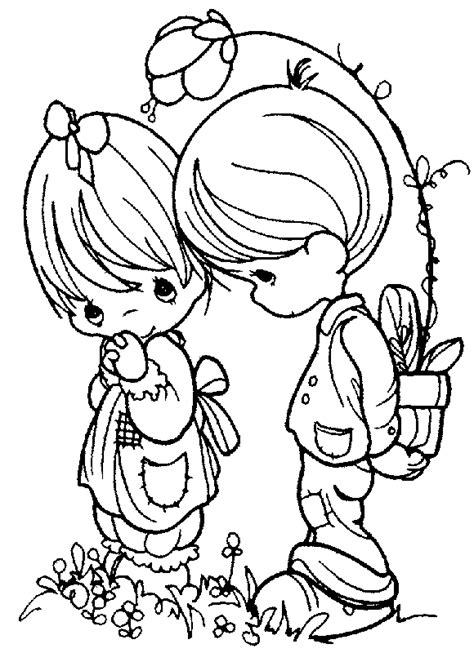 sweet children 999 coloring pages precious moments