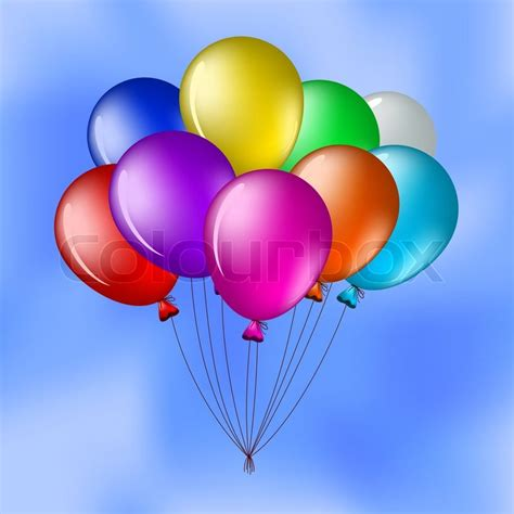Inspiration For Home Decor by Cartoon Bunch Of Various Balloons In The Blue Sky Stock
