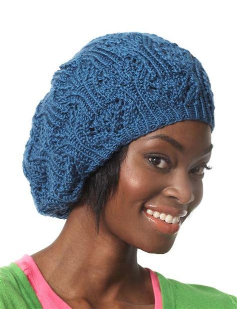 knitting pattern beret lace slouchy summer beret allfreeknitting com