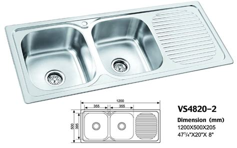 Stainless Steel Kitchen Sinks South Africa by China Stainless Steel Sink Vs4820 2 China Stainless