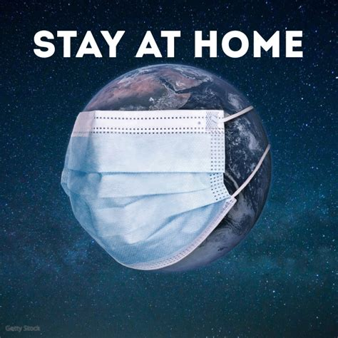 stay  home safe life corona prevention template