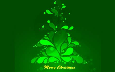 abstract green christmas tree with fluorescent light
