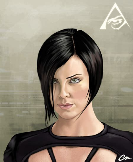 edgy haircuts charlize theron in aeon flux charlize theron aeon flux haircut www imgkid com the