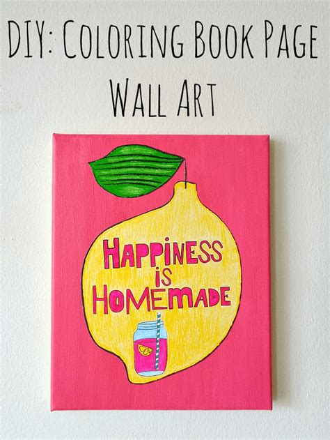 diy coloring book diy coloring book page wall crafts