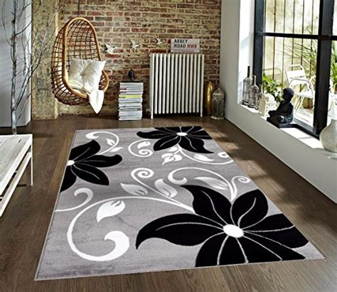 10 x 14 charcoal white gray rug t1014 gray black white 5 2 x 7 2 floral area rug