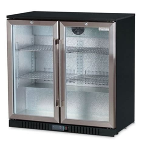 under bench refrigerator cybercool 210l two door under bench drinks bar fridge