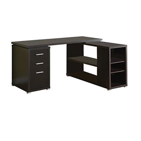 monarch l shaped desk monarch specialties l shaped computer desk with book shelf
