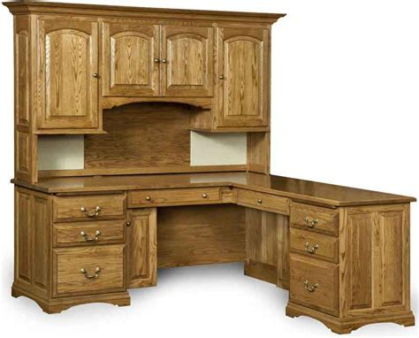 Solid Wood Desk With Hutch Solid Wood Mannington L Desk With Hutch