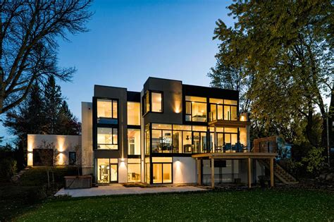 contemporary style house riverside home in ottawa canada