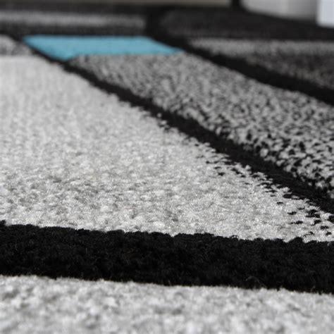 carpet cut rugs designer carpet modern rug chequered contour cut pattern grey turquise carpets pile rugs