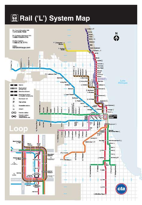 chicago mapa l mapa metro de chicago estados unidos