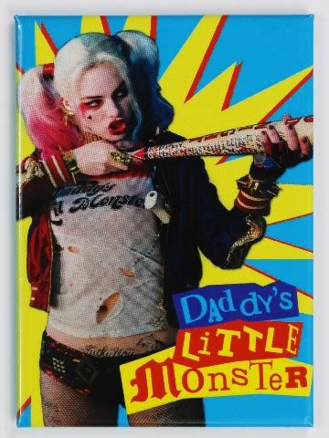 harley quinn daddys  monster fridge magnet batman