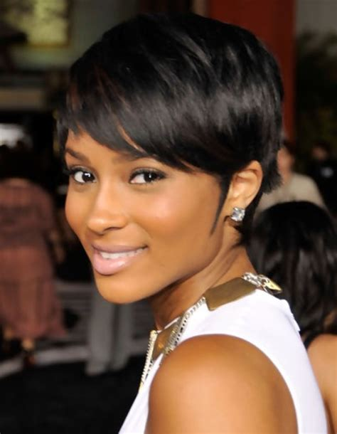 pictures of short hairstyles with side part ciara short hairstyle side swept part pretty designs