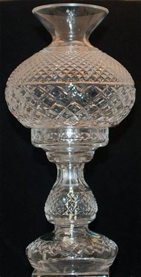 waterford crystal hurricane candle l vintage electric parlor l gwtw ball globe hand painted