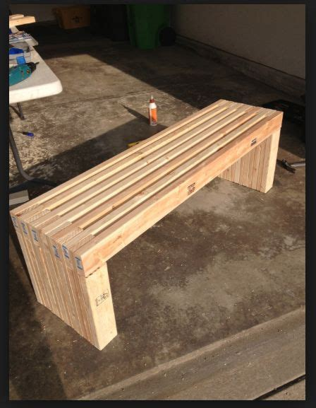 easy 2x4 bench diy 2x4 bench garden benches pinterest benches and