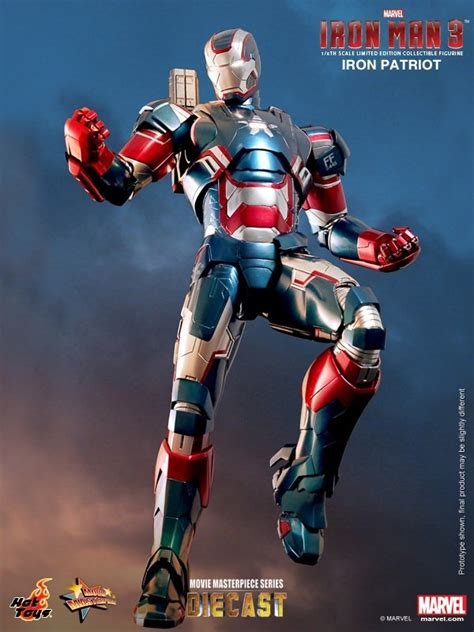 Ironman Figure Iron Patriot 1 onesixthscalepictures toys iron 3 iron patriot product news for 1 6 scale