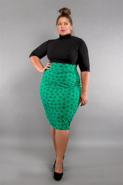 items similar to jibri plus size high waist pencil skirt