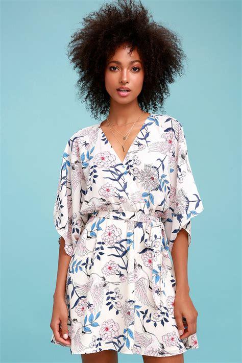 Rise Dress Clory floral print dress floral and bird print dress