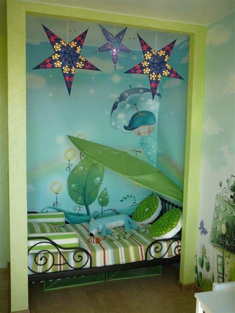 kinderzimmer blau grun kinderzimmer gestalten farbe wandmalerei l 246 va betthimmel