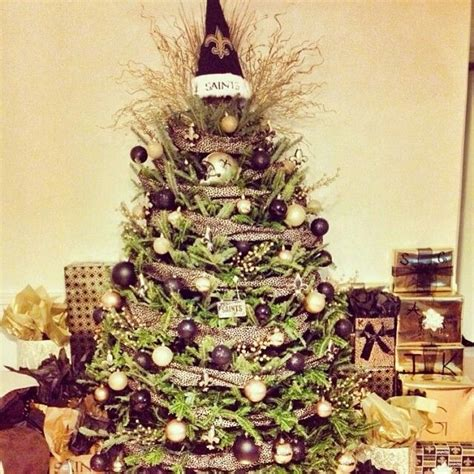 new orleans saints christmas tree who dat pinterest