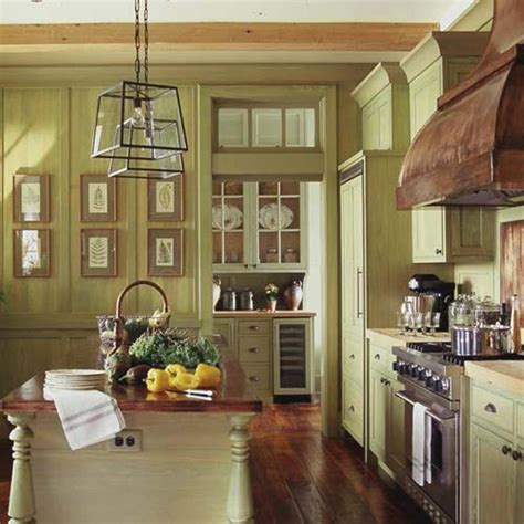 green yellow painted traditional wood kitchen cabinets design bookmark 13438