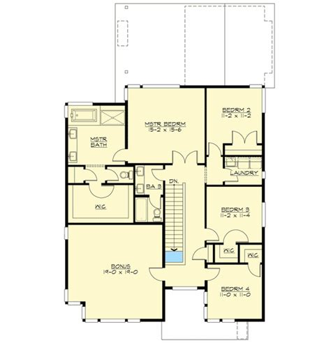 straight floor plan clean straight lines 23511jd architectural designs house plans