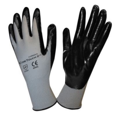 X Large Flat Nitrile Palm Coated Glove Polyester Shell