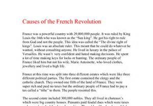 Revolution Essay by Causes And Effects Of The Revolution Essays