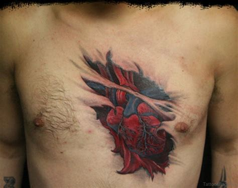 75 attractive heart tattoos on chest