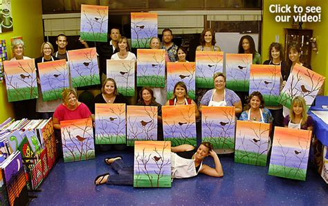 canvas painting classes near me florida s original quot bring wine and paint quot studio