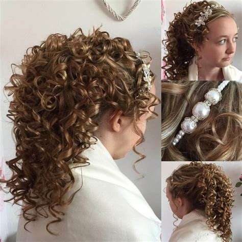 bridesmaid hairstyles down curly 25 curly wedding hairstyle ideas designs design trends
