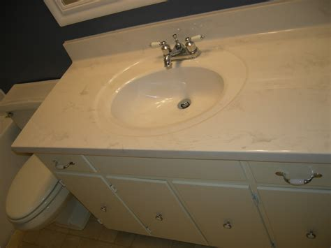 Cultured Marble Vanity Tops With Sink by Brown Marble Top With Rectangle White Sink Placed On