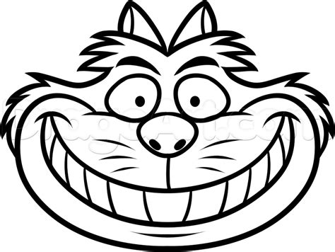 coloring pages of cheshire cat how to draw cheshire cat easy step by step disney