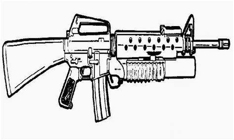 Coloring Pages Of Military Guns | military gun pages coloring pages