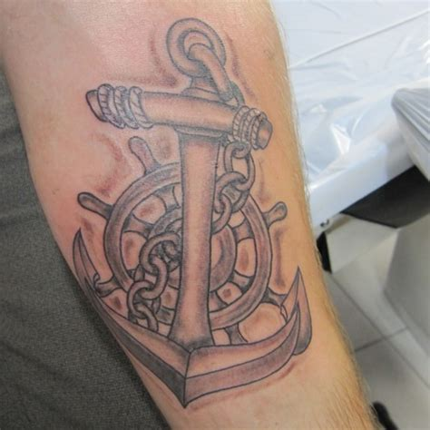 an anchor tattoo means the seaman has sailed in the