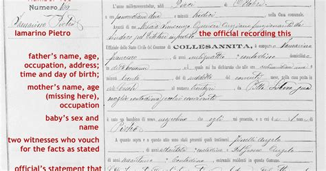 Italian Birth Records Free Fortify Your Family Tree How To Read An Italian Birth Record