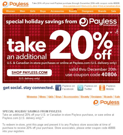 payless shoe source coupon s deals in az payless shoe source 20 your