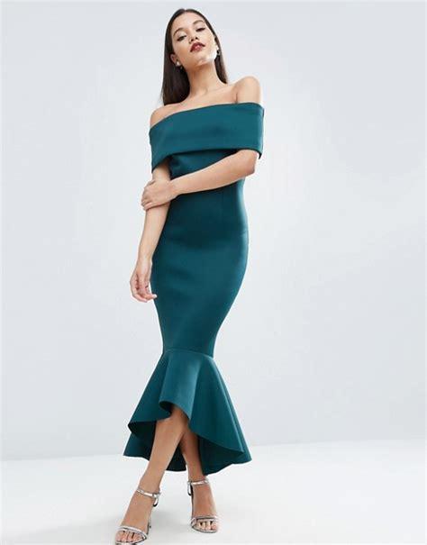 Floding Peplum Top asos asos premium fold peplum midi dress