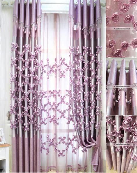 exotic curtains and drapes luxury curtains and drapes in purple color in romantic way