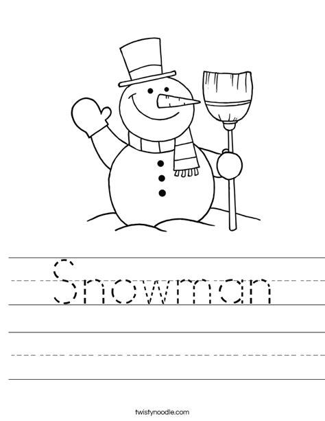 snowman coloring pages for kindergarten snowman worksheet twisty noodle