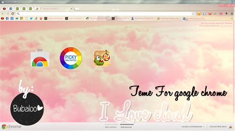 google chrome themes love live i love cloud theme for google chrome by purpuritaa on